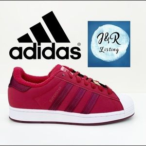 adidas SUPERSTAR SHOES Collegiate Burgundy shoes